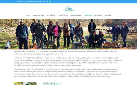 Screenshot of About Page bestpawforwardinc.com - Best Paw Forward's Dog Trainers - captured Nov. 22, 2016
