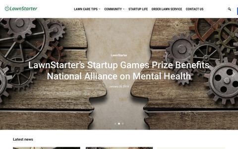 Screenshot of Blog lawnstarter.com - Lawnstarter - The LawnStarter Lawn Care Service Blog - captured Jan. 27, 2016