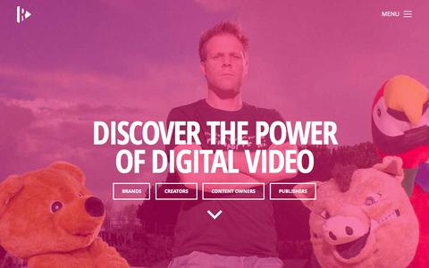 Screenshot of Home Page rightster.com - Rightster - Discover the power of digital video | Rightster.com - captured Nov. 10, 2015