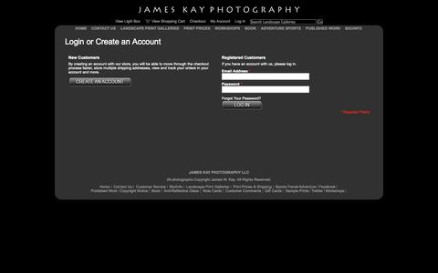 Screenshot of Login Page jameskay.com - Customer Login - captured Oct. 6, 2014
