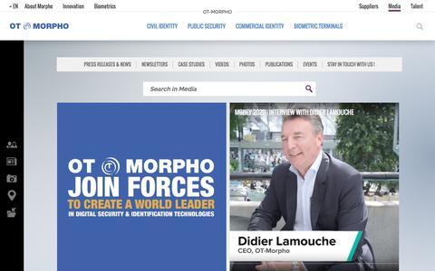 Screenshot of Press Page morpho.com - Media | OT-Morpho - captured July 17, 2017