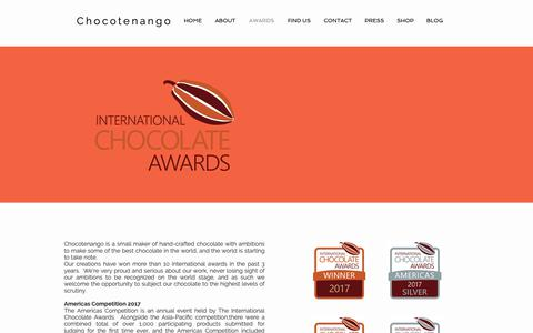Screenshot of Press Page chocotenango.com - AWARDS | Washington DC | Chocotenango - captured Oct. 25, 2018