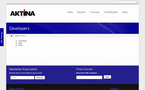Screenshot of Developers Page aktina.com.cy - Developers | AKTINA IT - captured Nov. 19, 2016