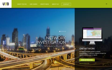 Screenshot of Home Page v3d.fr - Device quality agent and customer experience management platform - V3D - captured July 15, 2015