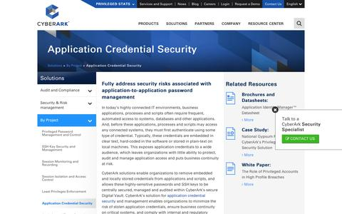 Application Credential Security Solutions - CyberArk