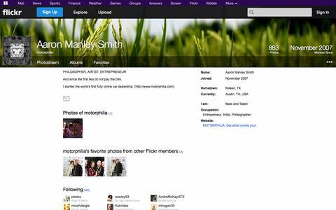 Screenshot of Flickr Page flickr.com - Flickr: motorphilia - captured Oct. 23, 2014