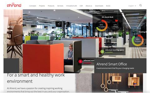 Screenshot of Home Page ahrend.com - Ahrend - Creating Office Lifestyles - captured Jan. 16, 2019