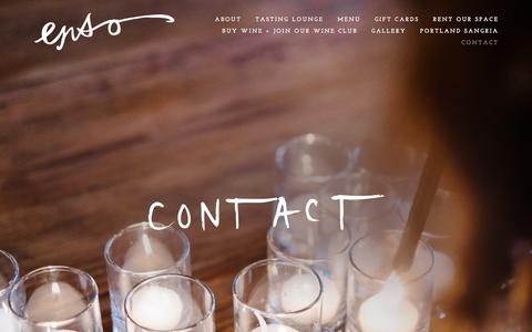 Screenshot of Contact Page ensowinery.com - Contact Ń ENSO Urban Winery + Tasting Lounge - captured Dec. 10, 2015