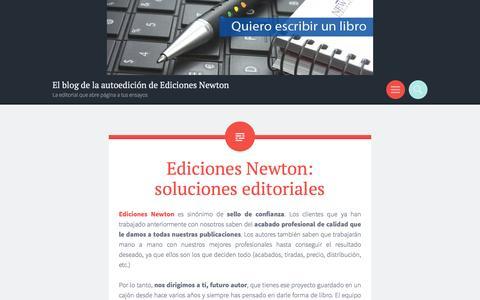 Screenshot of Blog wordpress.com - El blog de la autoedición de Ediciones Newton | La editorial que abre página a tus ensayos - captured April 11, 2017