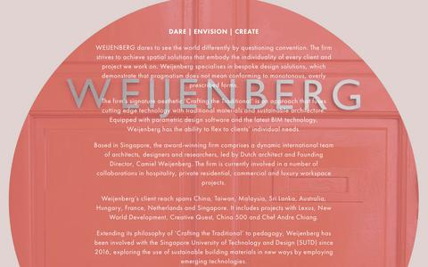 Screenshot of About Page weijenberg.co - Award-Winning Design Firm - Dare to see the world differently - WEIJENBERG - captured Sept. 21, 2018