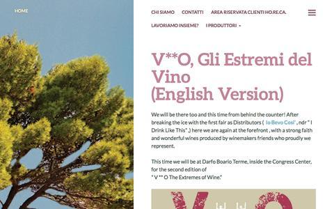 Screenshot of wordpress.com - Enocratia | Distribuzione vini di Artigiani - captured Oct. 10, 2014