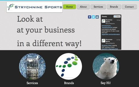 Screenshot of Home Page strychninesports.com - Strychnine Sports - captured Oct. 8, 2014
