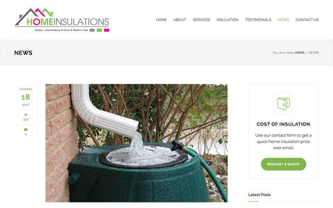 Screenshot of Press Page homeinsulations.co.za - News | Home Insulations - captured Oct. 29, 2017