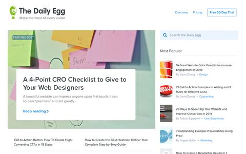 Screenshot of Blog crazyegg.com - Crazy Egg   Website and Conversion Optimization Blog - captured Jan. 7, 2019