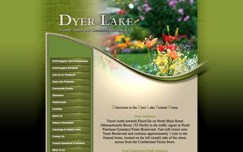 Screenshot of Maps & Directions Page dyer-lakefuneralhome.com - DYER-LAKE FUNERAL HOME - captured June 5, 2017