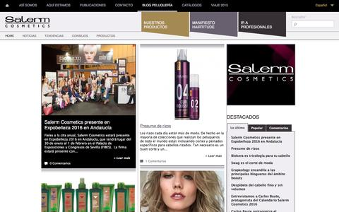 Screenshot of Blog salerm.com - Blog peluquería |Salerm Cosmetics ES - captured Jan. 17, 2016
