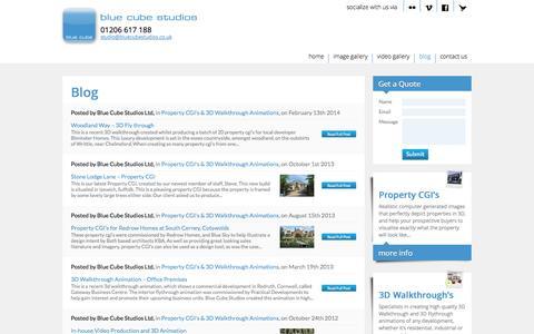 Screenshot of Blog bluecubestudios.co.uk - Blog - Blue Cube Studios - captured Oct. 5, 2014