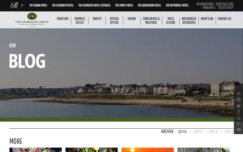 Screenshot of Blog falmouthhotel.co.uk - Blog Archives - The Falmouth Hotel - captured March 8, 2016