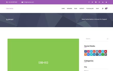Screenshot of Support Page mariaceciliasantos.com - support – María Cecilia Santos - captured Nov. 26, 2017