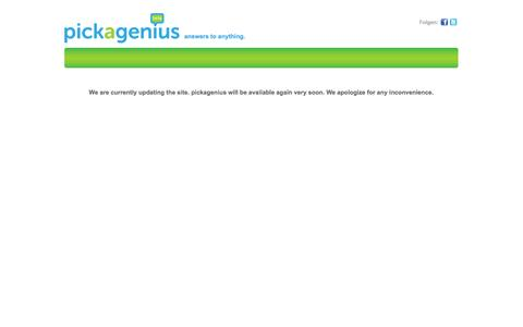 Screenshot of Signup Page pickagenius.com - Experten beraten online | pickagenius – answers to anything! - captured Oct. 3, 2014
