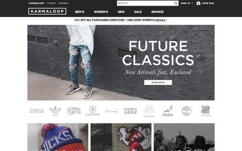Streetwear Clothing, Footwear, and Accessories -  Karmaloop.com