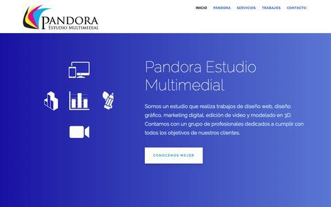 Screenshot of Home Page pandoramultimedial.com.ar - Pandora Estudio Multimedial - Diseño Web | Diseño Gráfico | Marketing Digital | Edición de Video y Sonido | Modelado 3D - captured Nov. 22, 2018