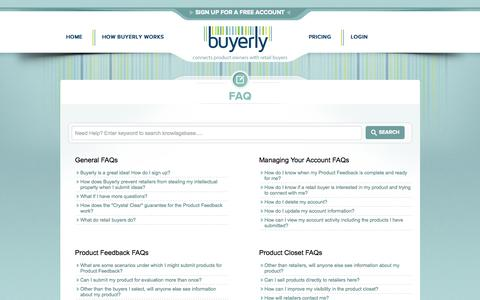 Screenshot of FAQ Page buyerly.com - FAQ | Buyerly - captured Sept. 30, 2014