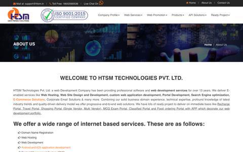 Screenshot of About Page htsm.in - Best Web Development Company in Kolkata - HTSM - captured Oct. 19, 2018