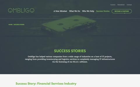 Screenshot of Case Studies Page ombligo.com - Success Stories | Ombligo - captured Feb. 14, 2016