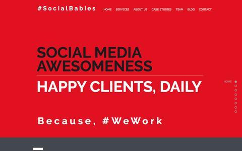 Screenshot of Home Page social-babies.com - Social Babies - Social Media Agency - captured Dec. 18, 2016