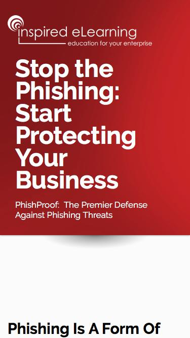 Inspired eLearning - Stop the Phishing: Start Protecting Your Business