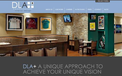 Screenshot of Home Page dlaplus.com - DLA+ Architecture & Interior Design - captured Dec. 7, 2015