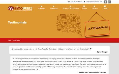 Screenshot of Testimonials Page mymowireless.com - Testimonials Archive - Mymo Wireless - captured Oct. 4, 2017