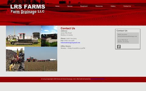 Screenshot of Contact Page lrsfarmsanddrainage.com - Contact Us   LRS Farms & Farm Drainage, LLC - captured Sept. 26, 2014