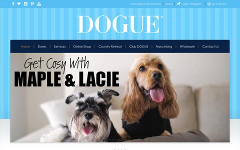 Screenshot of Home Page dogue.com.au - DOGUE | Dog Accessories | Dog Grooming | Dog Boutique - captured May 10, 2017