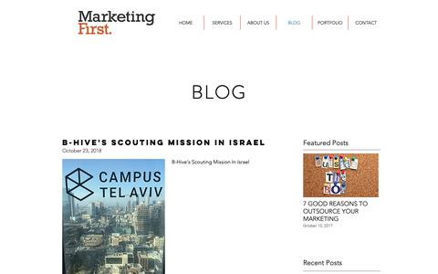 Screenshot of Blog marketing-first.com - Marketing First Blog - captured Nov. 5, 2018