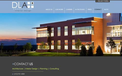 Screenshot of Contact Page dlaplus.com - Contact   DLA+ Architecture & Interior Design - captured Dec. 3, 2015