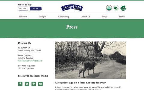 Press - Stonyfield