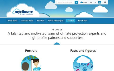 Screenshot of About Page myclimate.org - About us - captured Oct. 26, 2014