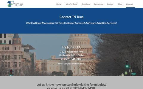 Screenshot of Contact Page trituns.com - Contact Tri Tuns - Tri Tuns - captured Dec. 16, 2016