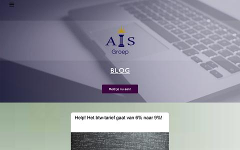 Screenshot of Blog ais-groep.nl - AIS-Blog - captured Dec. 9, 2018