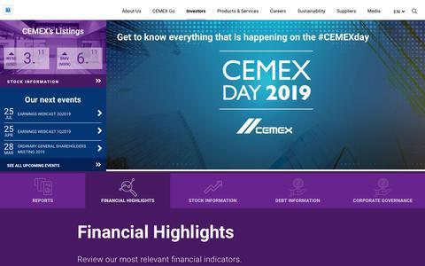 Screenshot of FAQ Page cemex.com - Faqs - CEMEX - captured Aug. 6, 2019