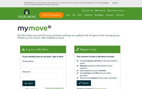 Screenshot of Login Page your-move.co.uk - My Move - Log in - captured Aug. 18, 2019