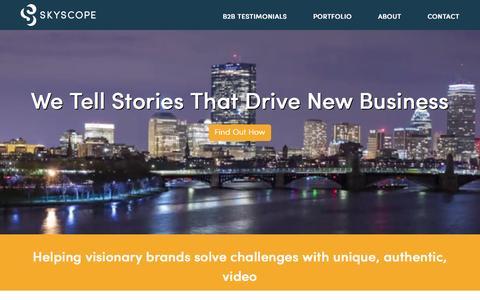 Screenshot of Home Page skyscope.com - Skyscope: Creative Video Agency   Boston - captured Aug. 17, 2015