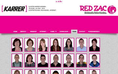 Screenshot of Team Page karrernet.at - Elektro Karrer GesmbH - TEAM - captured June 8, 2016