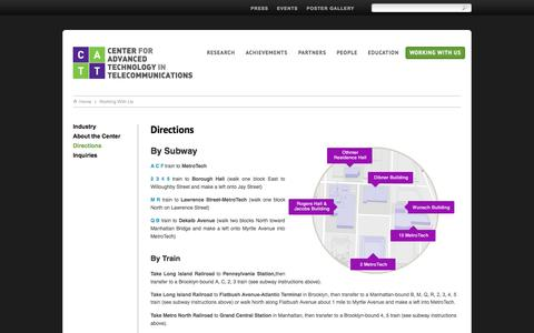 Screenshot of Maps & Directions Page poly.edu - Directions | CATT - captured Oct. 2, 2014