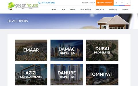 Screenshot of Developers Page greenhouse.ae - DEVELOPERS - Greenhouse Real Estate - captured Sept. 20, 2017