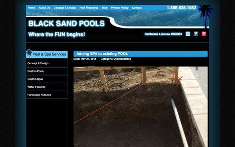 Screenshot of Blog blacksandpools.com - Blog | Black Sand Pools | Where the FUN begins! - captured April 16, 2016