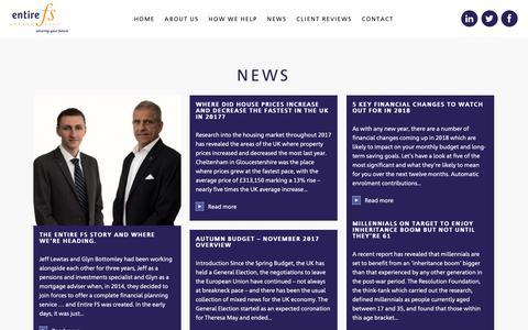 Screenshot of Press Page entirefs.co.uk - News - Entire FS - captured Sept. 28, 2018