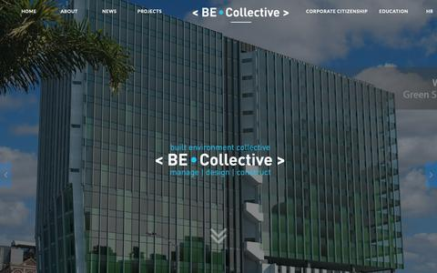 Screenshot of Home Page becollective.net - Built Environment Collective - captured Oct. 6, 2018